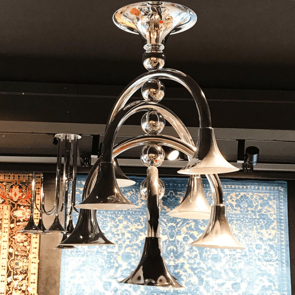italienische Deckenlampe im Stil von Goffredo Reggiani
