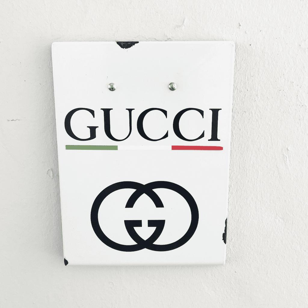 GUCCI Werbeschild