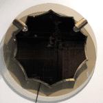 runder Spiegel im Stil von Fontana Arte