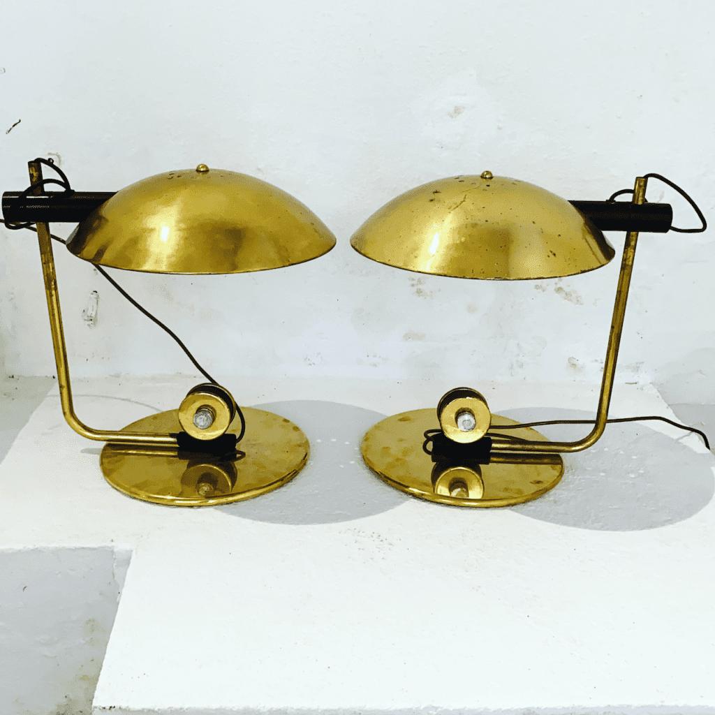 italienische Art Deco Tischlampen